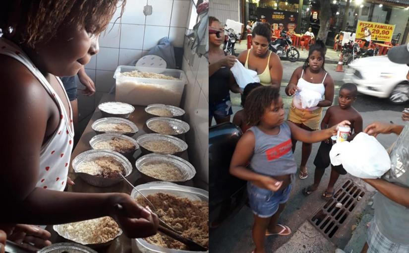 Menina de 8 anos prefere distribuir comida a moradores de rua em vez de celebrar seu aniversário