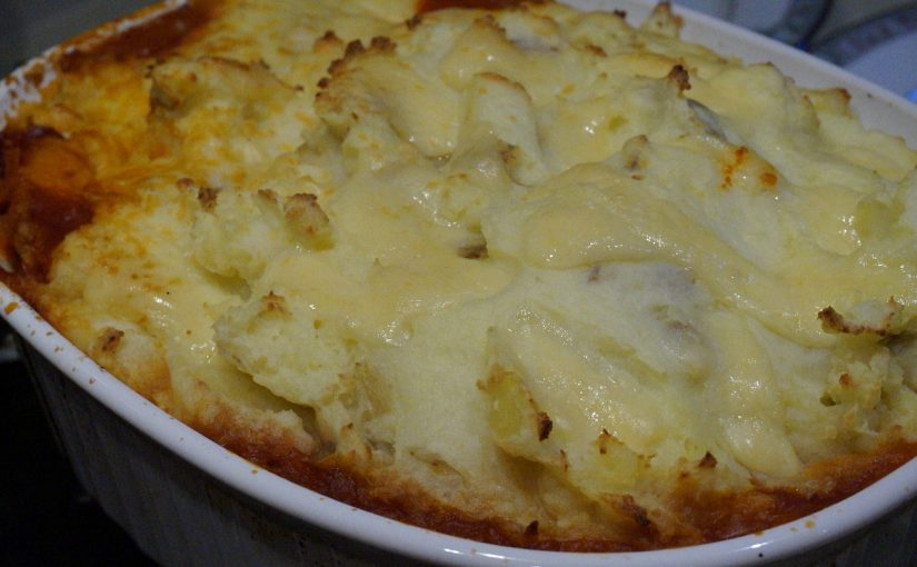 Receita de Batata gratinada com frango cremoso